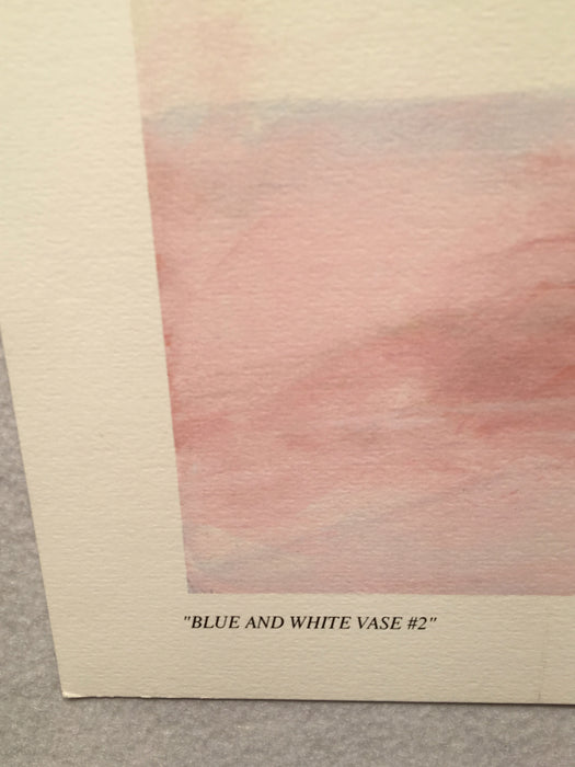 "Mary Vincent Bertrand ""Blue and White Vase #2"" Limited Edition Signed Print   - TvMovieCards.com"