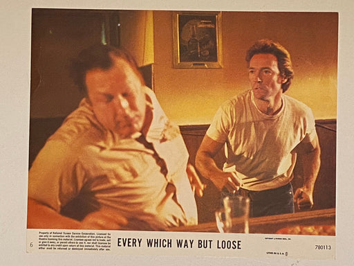 1978 Every Which Way But Loose #6 Lobby Card 8 x 10 Clint Eastwood, Sondra Locke, Geoffrey Lewis   - TvMovieCards.com