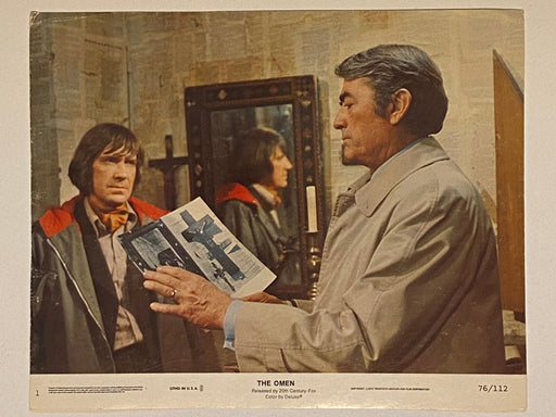 1976 The Omen #1 Lobby Card 8 x 10 Gregory Peck, Lee Remick, Harvey Stephens   - TvMovieCards.com