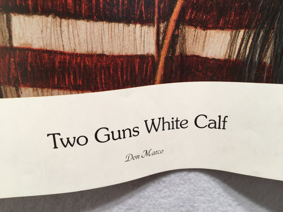 "Don Marco ""Two Guns White Calf"" Limited Edition Print Native American   - TvMovieCards.com"