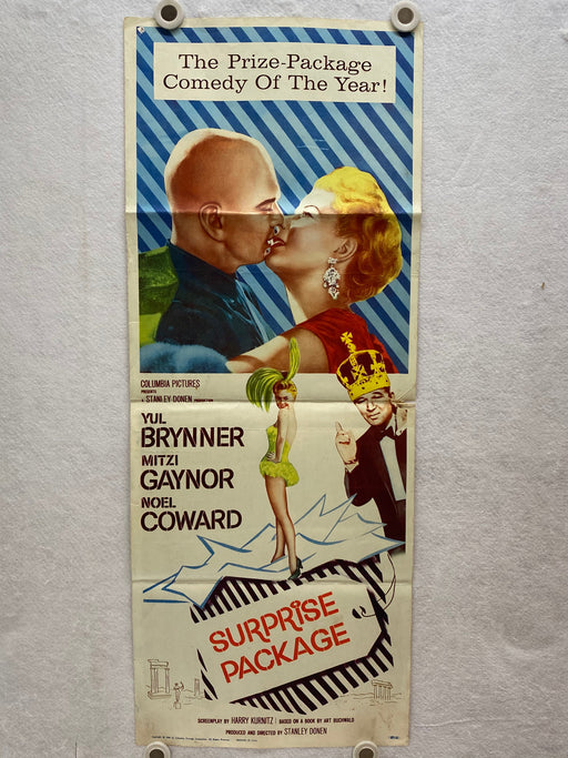 1960 Surprise Package Insert Movie Poster 14 x 36  Yul Brynner, Mitzi Gaynor   - TvMovieCards.com