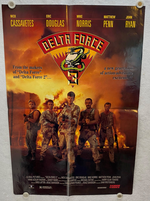 1991 Delta Force 3 1SH Movie Poster 27 x 40 Nick Cassavetes, Eric Douglas   - TvMovieCards.com