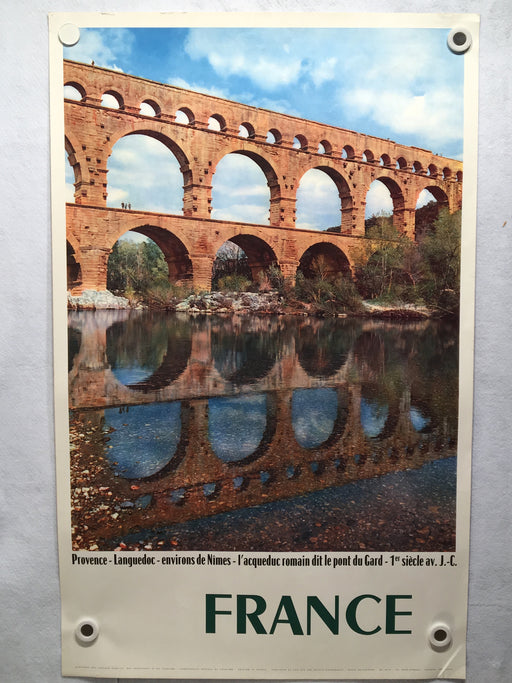 Original 1960 PONT DU GARD Nimes Provence - French Travel Poster - Rene Jacques   - TvMovieCards.com