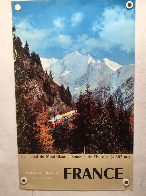Original 1960 Le massif du Mont-Blanc - Sommet de l'Europe French Travel Poster   - TvMovieCards.com