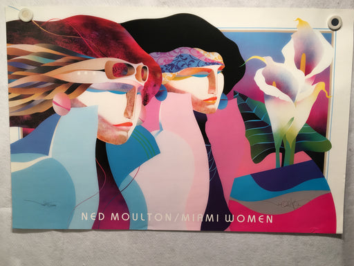"""Miami Women"" Ned Moulton Signed Lithograph Poster 23 x 35   - TvMovieCards.com"