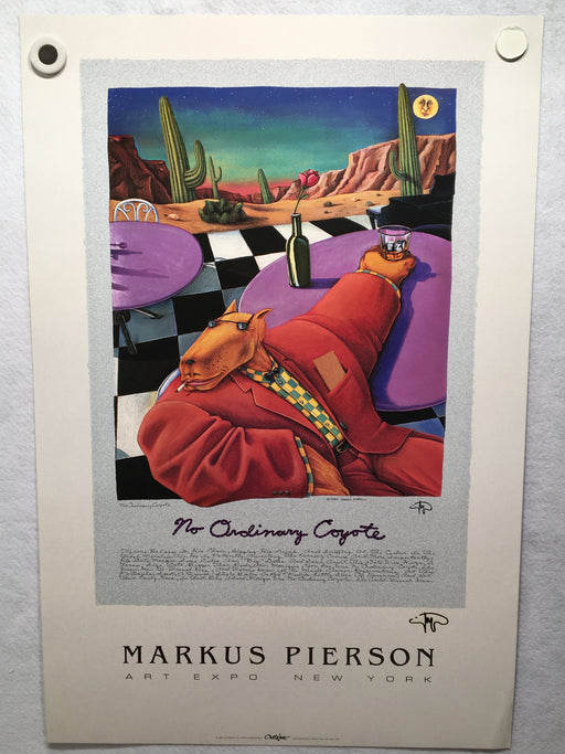 Markus Pierson No Ordinary Coyote NY ART Expo Signed Poster Print 20 x 30   - TvMovieCards.com