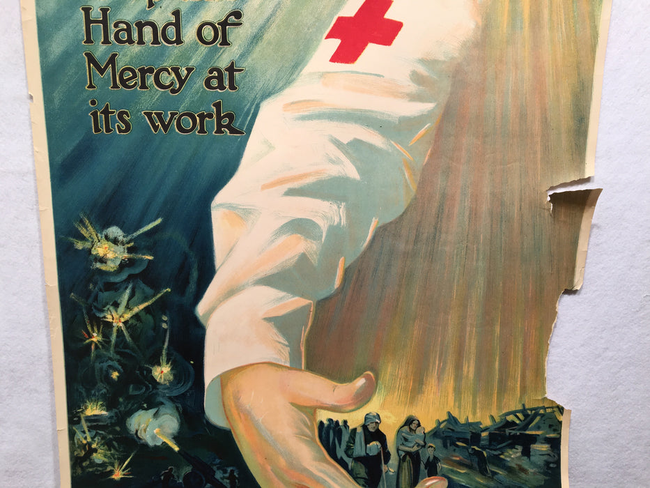 "WW1 ""Keep This Hand of Mercy as its Work"" Red Cross Poster (20"" X 27"") 1918   - TvMovieCards.com"