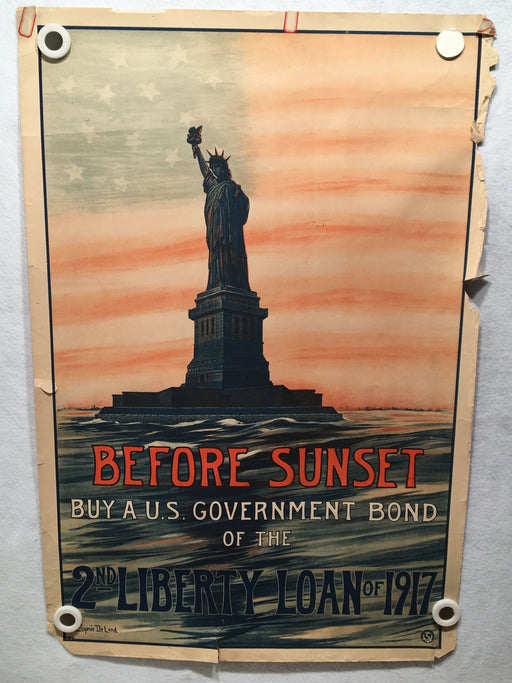 "Original ""Before Sunset"" WWI - 2nd Liberty Loan 1917 Propaganda Poster 20 x 30   - TvMovieCards.com"