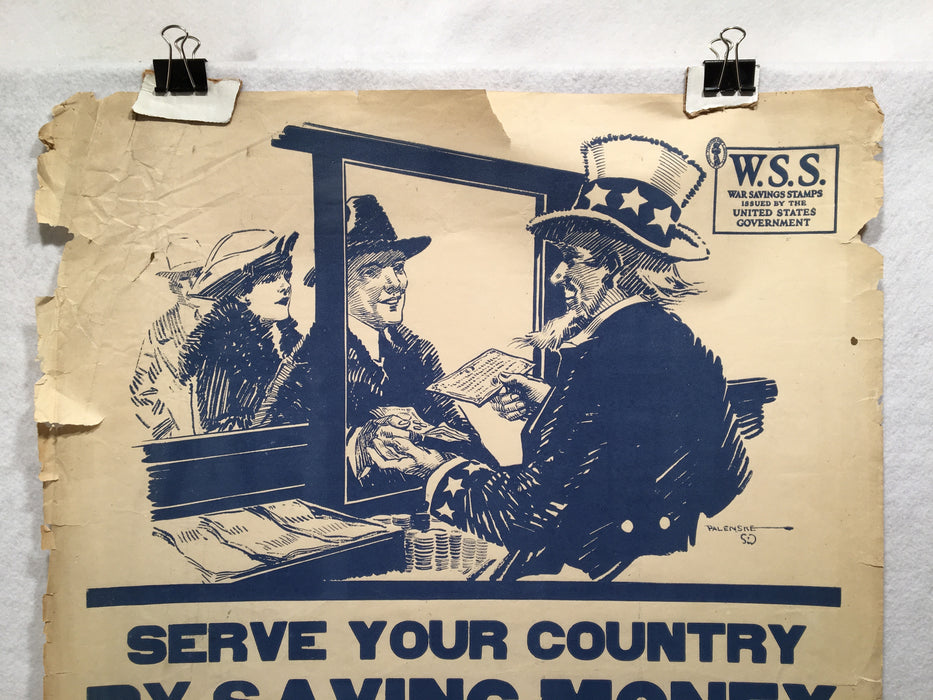 "1918 WW1 ""Serve Your Country by Saving Money"" Propaganda Poster (21"" X 28"")   - TvMovieCards.com"