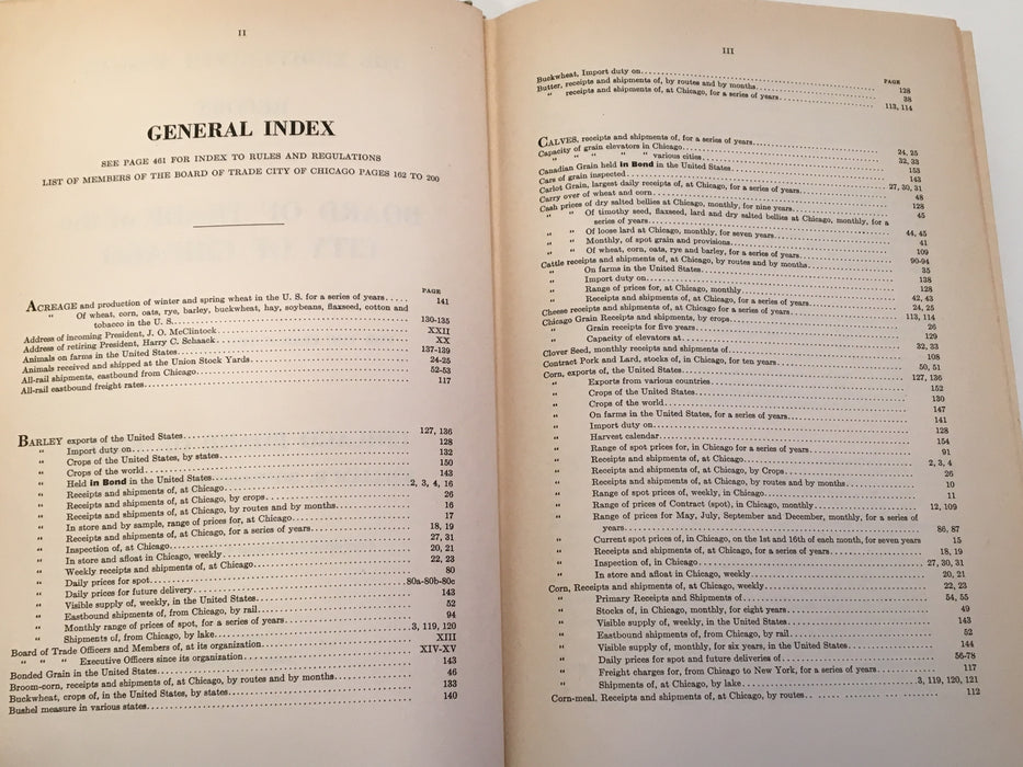 1946 Board of Trade of the City of Chicago 89th Annual Report Statistics Book   - TvMovieCards.com