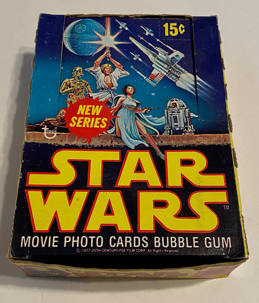 1977 Star Wars Series 2 Empty Bubble Gum Vintage Trading Card Wax Box   - TvMovieCards.com