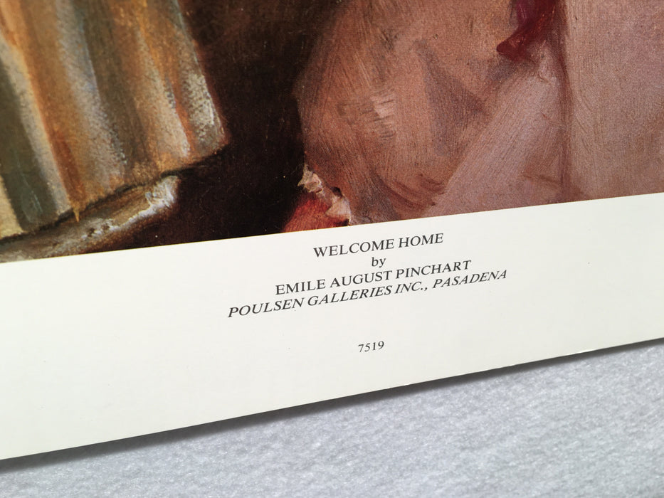 "Welcome Home - Emile August Pinchart - Art Poster Print 24"" x 38""   - TvMovieCards.com"