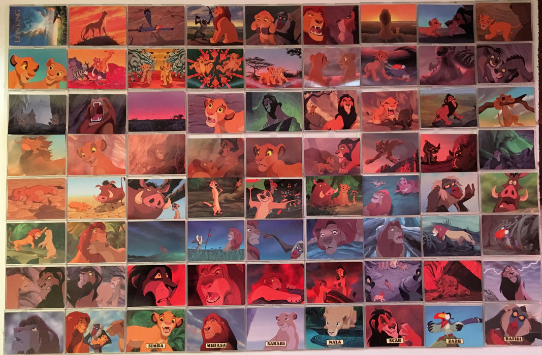 Lion King Disney Movie Series 1 Base Card Set 90 Cards Skybox 1994   - TvMovieCards.com