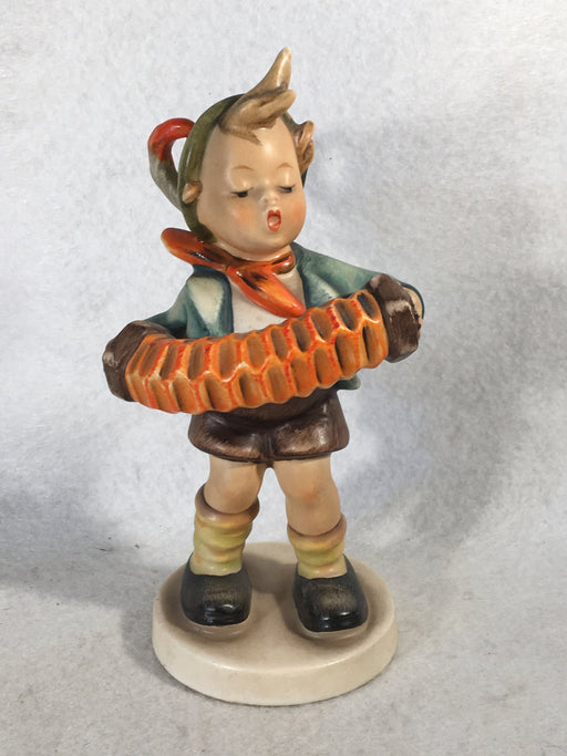 "Goebel Hummel Figurine #185 ""Accordion Boy"" TMK5 5 1/2""   - TvMovieCards.com"