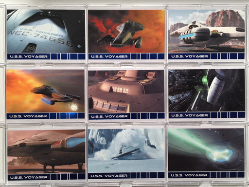 The Quotable Star Trek Voyager U.S.S. Voyager Chase Card Set V1-V9   - TvMovieCards.com