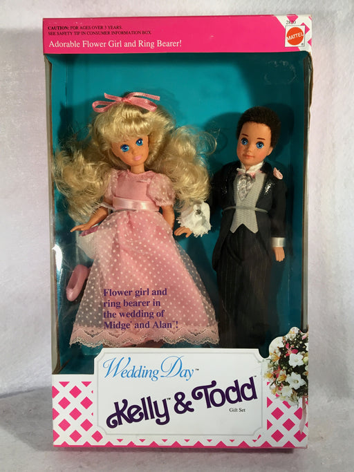Mattel Barbie Doll - Wedding Day Kelly & Todd Gift Set - 1991 - #2820 NIB   - TvMovieCards.com