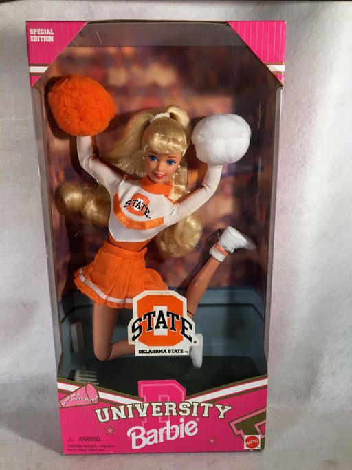 University Cheerleader Oklahoma State Barbie OSU - 1997 - #17752 NIB   - TvMovieCards.com