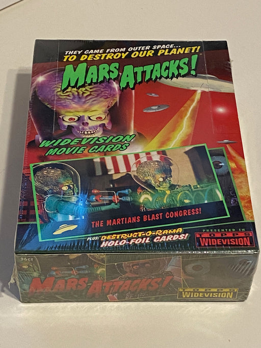 1996 Mars Attacks Movie Widevision Factory Sealed Trading Card Box NEW Topps   - TvMovieCards.com