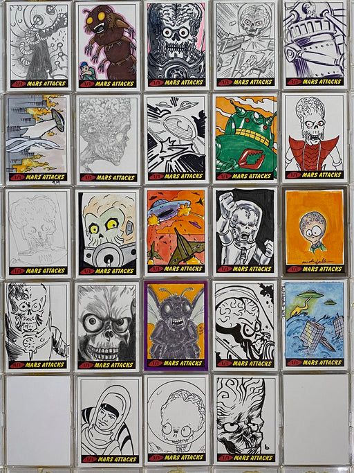 Mars Attacks Artist Autograph Sketch Trading Card 1/1 You Pick Single Topps 2012   - TvMovieCards.com