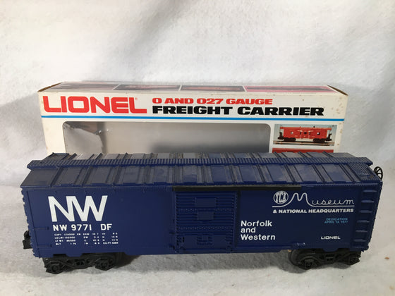 Lionel O Scale 6-9771 Norfolk & Western TCA National Headquarters Box Car