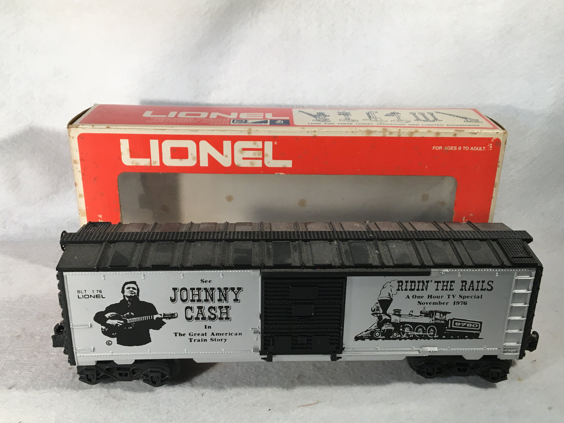 "Lionel O Scale 6-9780 Johnny Cash ""Riding the Rails"" Box Car"