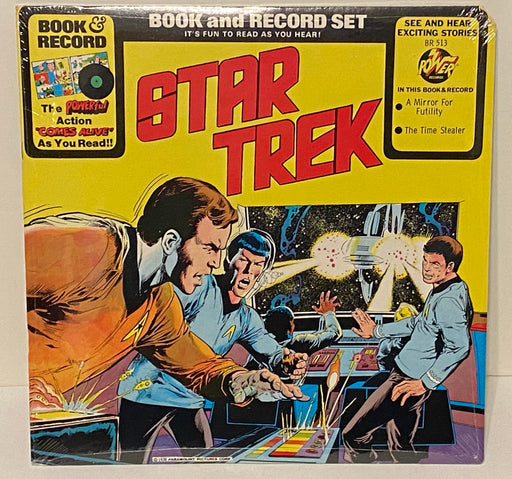 1976 Star Trek A Mirror for Futility Book & Record Set BR513 Sealed LP 33   - TvMovieCards.com