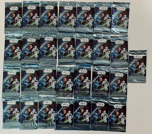 (29) Star Wars Attack of the Clones TCG Expert 5 Card Booster Pack Factory Sealed   - TvMovieCards.com