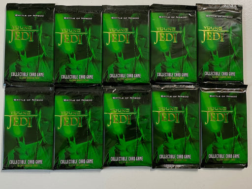 (10) Star Wars Young Jedi Battle of Naboo CCG Booster Pack Factory Sealed   - TvMovieCards.com