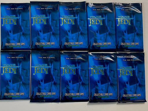 "(10) Star Wars Young Jedi ""Jedi Council"" CCG Booster Pack Factory Sealed   - TvMovieCards.com"
