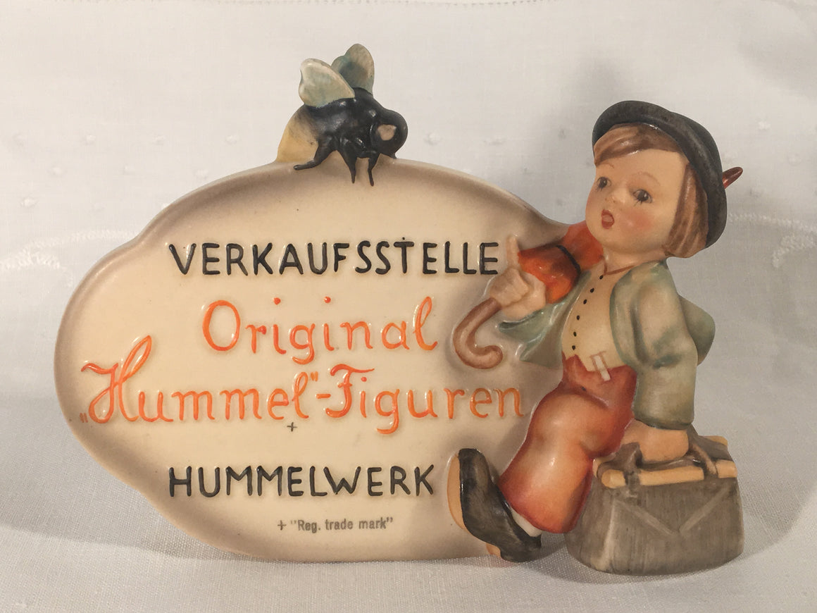 Goebel Hummel German Dealer Plaque #205 TMK1 & 2 Incised Crown Very Rare