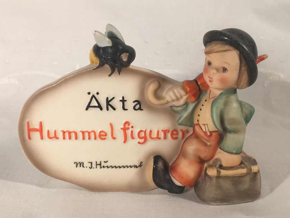 Goebel Hummel Swedish Dealer Plaque #209 TMK2 Merry Wanderer Extremely Rare   - TvMovieCards.com