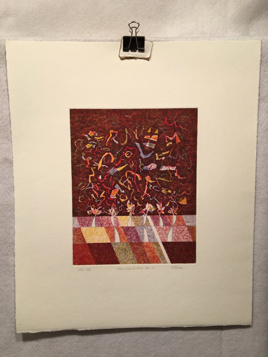 "Richard Black ""Blossoms in Mid Air: L"" Lithograph Etching Signed Art Print   - TvMovieCards.com"