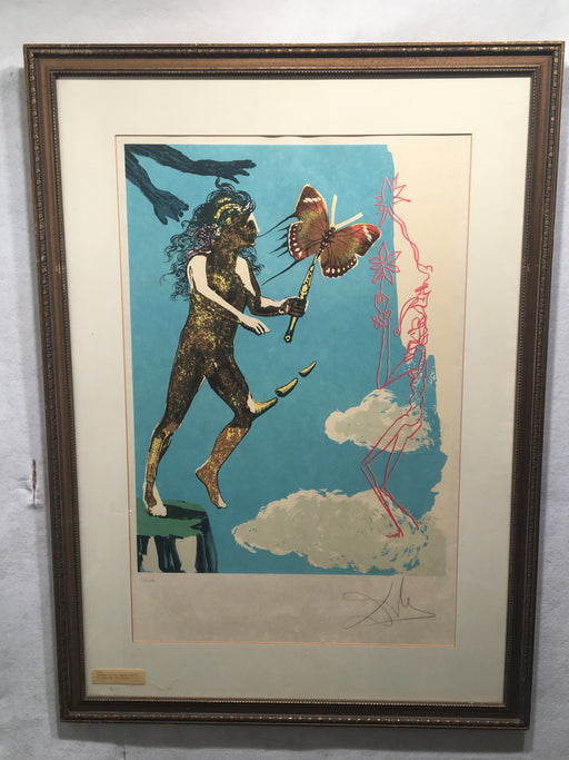 1978 Salvador Dali Release of the Psychic Spirit Lithograph   - TvMovieCards.com
