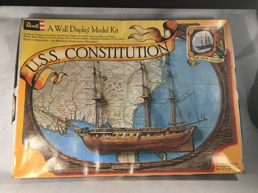 Vintage 1972 Revell USS Constitution Ship Wall Display Model Kit H801   - TvMovieCards.com