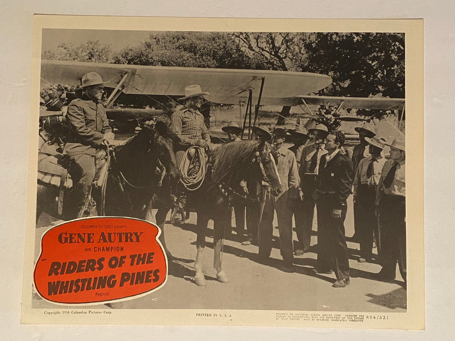 1954R Riders of the Whistling Pines 11 x 14 Lobby Card Gene Autry, Champion #6   - TvMovieCards.com