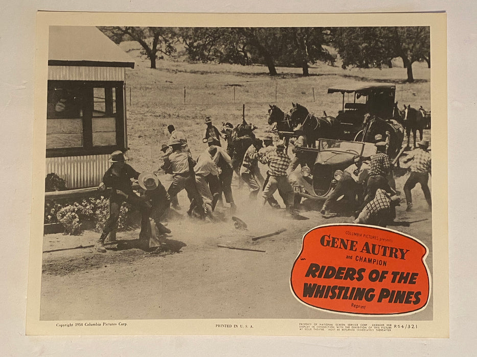 1954R Riders of the Whistling Pines 11 x 14 Lobby Card Gene Autry, Champion #8   - TvMovieCards.com