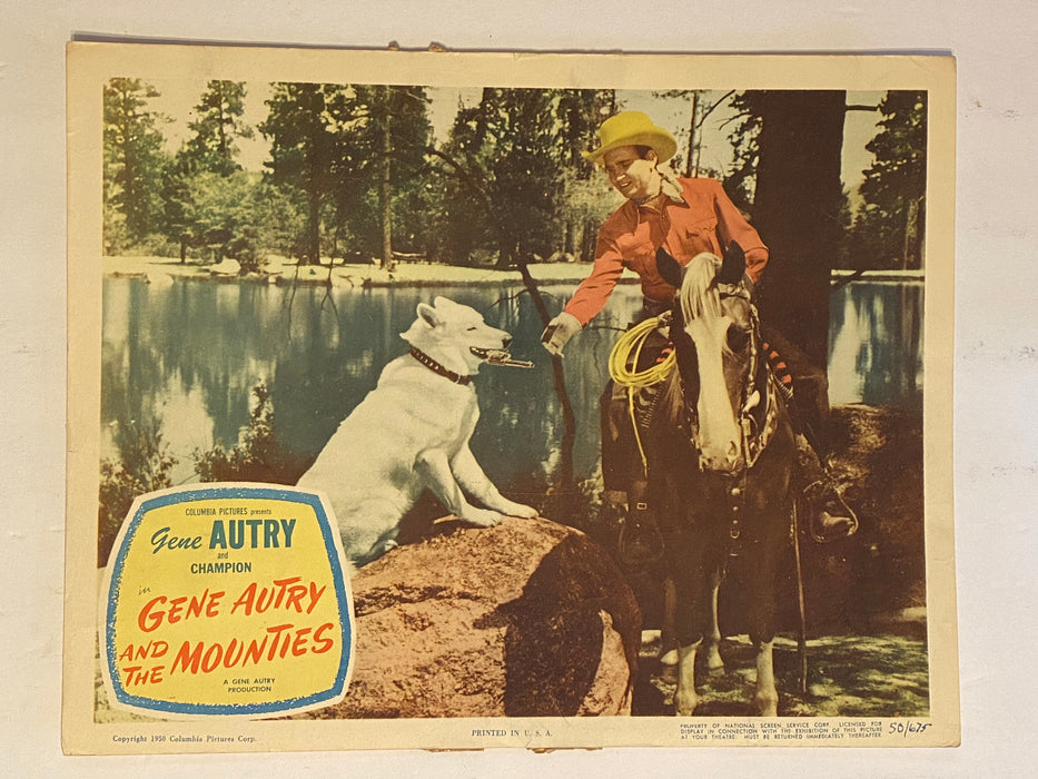 1951 Gene Autry and The Mounties 11 x 14 Lobby Card Gene Autry, Champion   - TvMovieCards.com