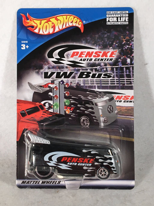 Hot Wheels 2001 PENSKE AUTO CENTER VW BUS BLACK 54946 Sealed   - TvMovieCards.com