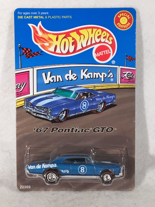 Hot Wheels Van de Kamps Promo '67 Pontiac GTO 1998 Special Edition 22269   - TvMovieCards.com