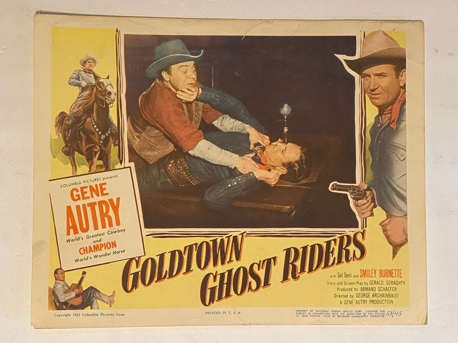 1953 Goldtown Ghost Riders 11 x 14 Lobby Card Gene Autry, Champion, Gail Davis   - TvMovieCards.com