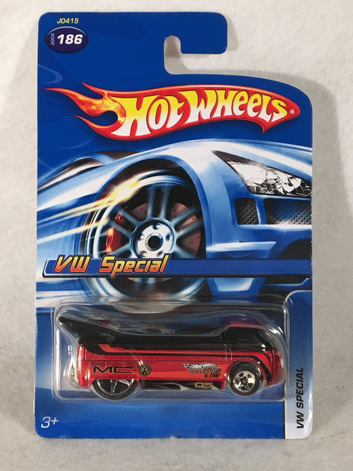 Hot Wheels #186 VW Special - Variant - Red Wine Metallic J0415 - 2005   - TvMovieCards.com