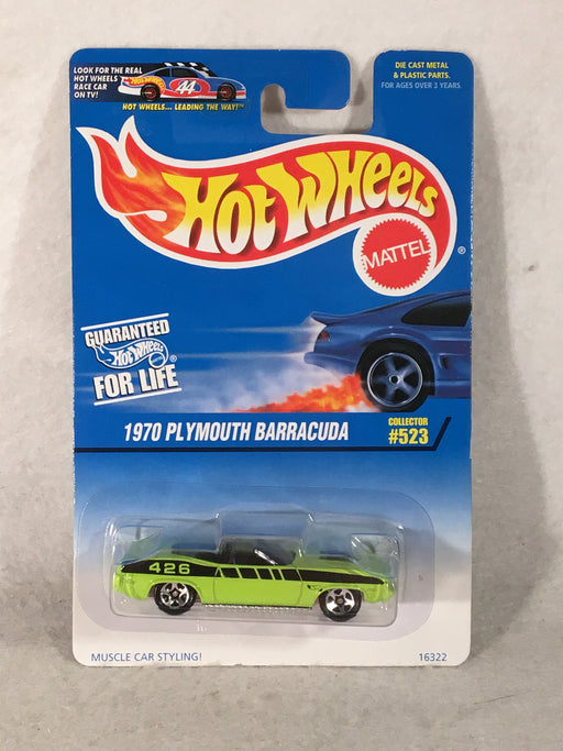 Hot Wheels 1970 Plymouth Barracuda Five Spoke Wheels #523 - 16322   - TvMovieCards.com