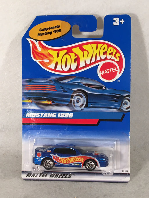 Hot Wheels Mexico Campeonato Mustang 1998 LE Mustang 1999 Blue   - TvMovieCards.com