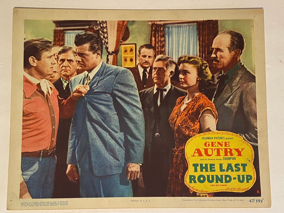 1947 The Last Round-up 11 x 14 Lobby Card #8 Gene Autry, Champion, Jean Heather   - TvMovieCards.com