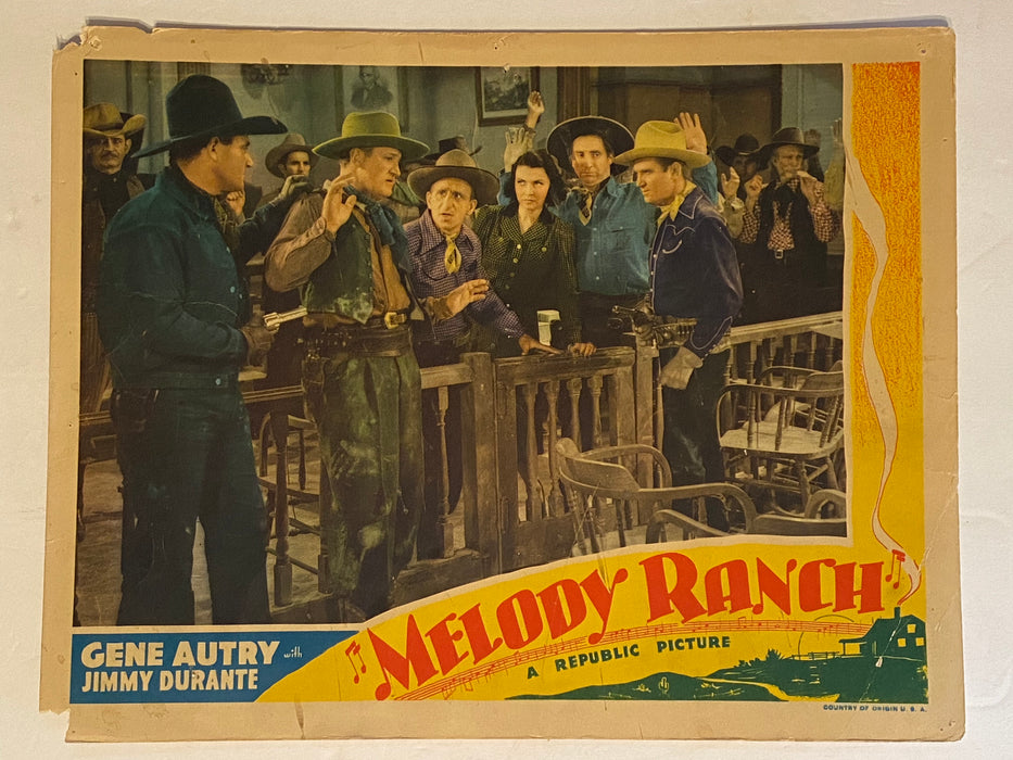 1940 Melody Ranch Lobby Card 11 x 14 Gene Autry, Jimmy Durante, Ann Miller   - TvMovieCards.com