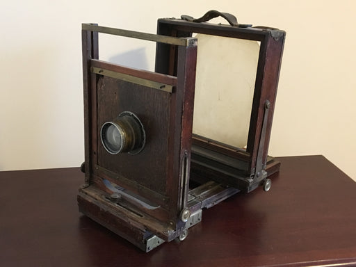Antique 8 x 10 Folding Studio Field Camera Rhaco Double Anastigmat f6.3 12 inch   - TvMovieCards.com