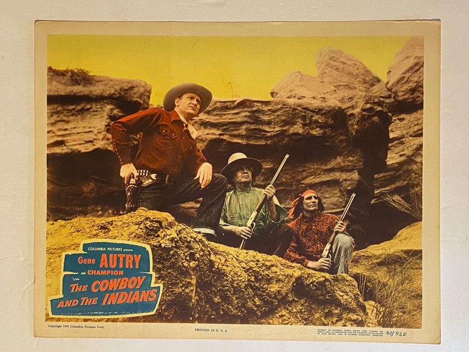 1949 The Cowboy and the Indians Lobby Card 11x14 Gene Autry Sheila Ryan   - TvMovieCards.com