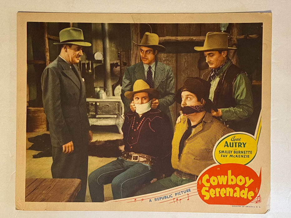 1942 Cowboy Serenade 11 x 14 Lobby Card Gene Autry Smiley Burnette Fay McKenzie   - TvMovieCards.com