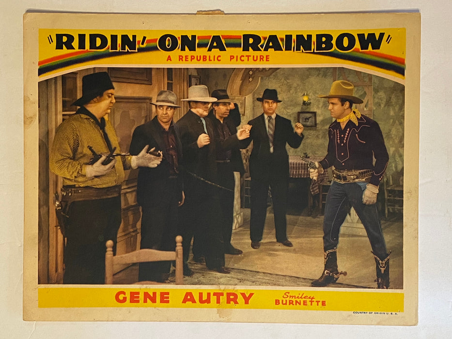 1941 Ridin' on a Rainbow Lobby Card 11x14 Gene Autry, Smiley Burnette, Mary Lee   - TvMovieCards.com