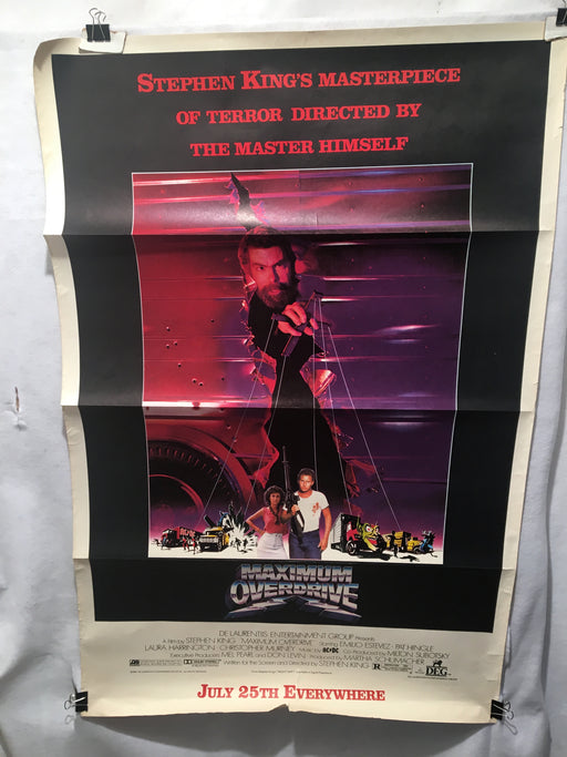 Original Maximum Overdrive 1986 1SH Movie Poster Stephen King AC/DC 29x45   - TvMovieCards.com